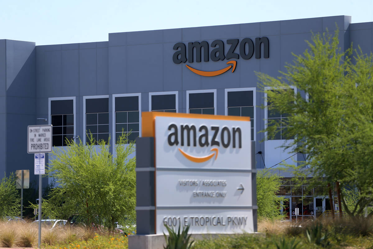 An Amazon distribution center at 6001 E. Tropical Parkway in North Las Vegas. (Erik Verduzco/La ...