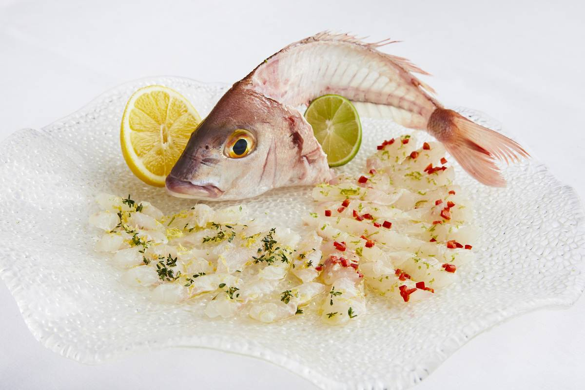 Whole fish sashimi is among the items that will be featured at Estiatorio Milos' raw bar. (Tim ...