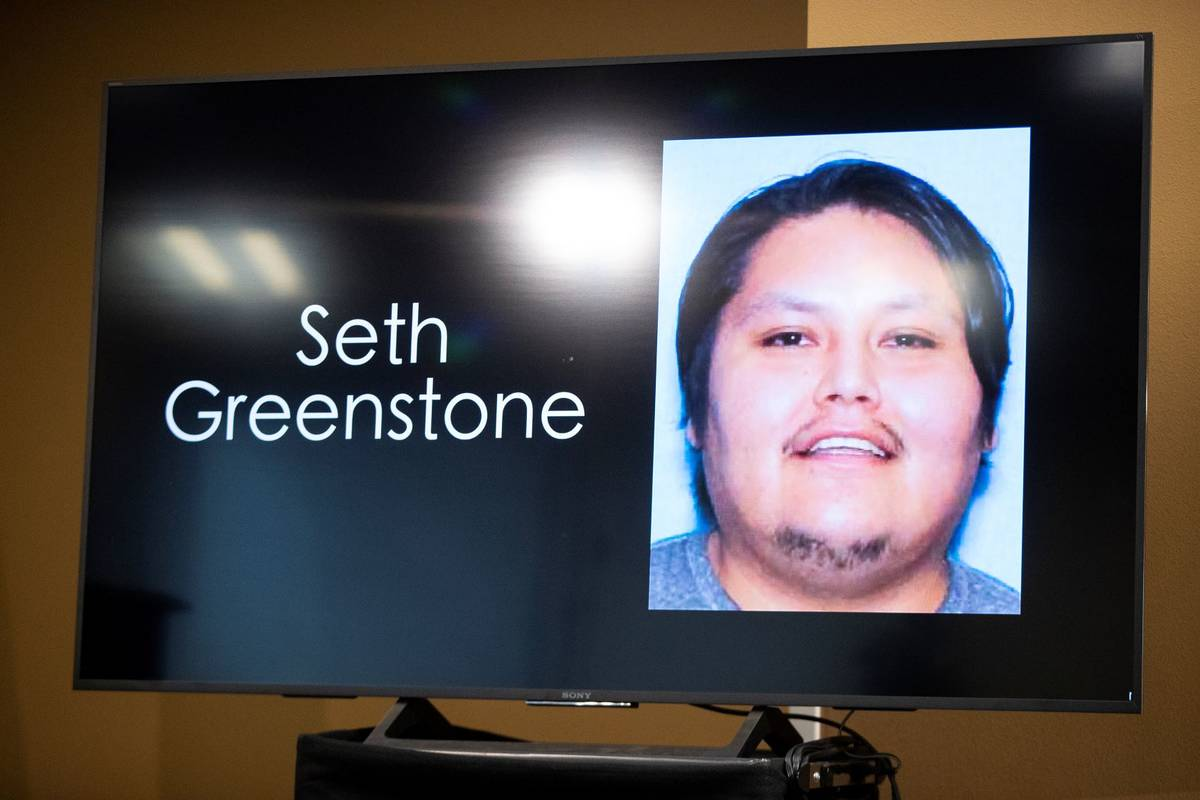 A photograph of Seth Greenstone, the man involved in an officer involved shooting, is displayed ...