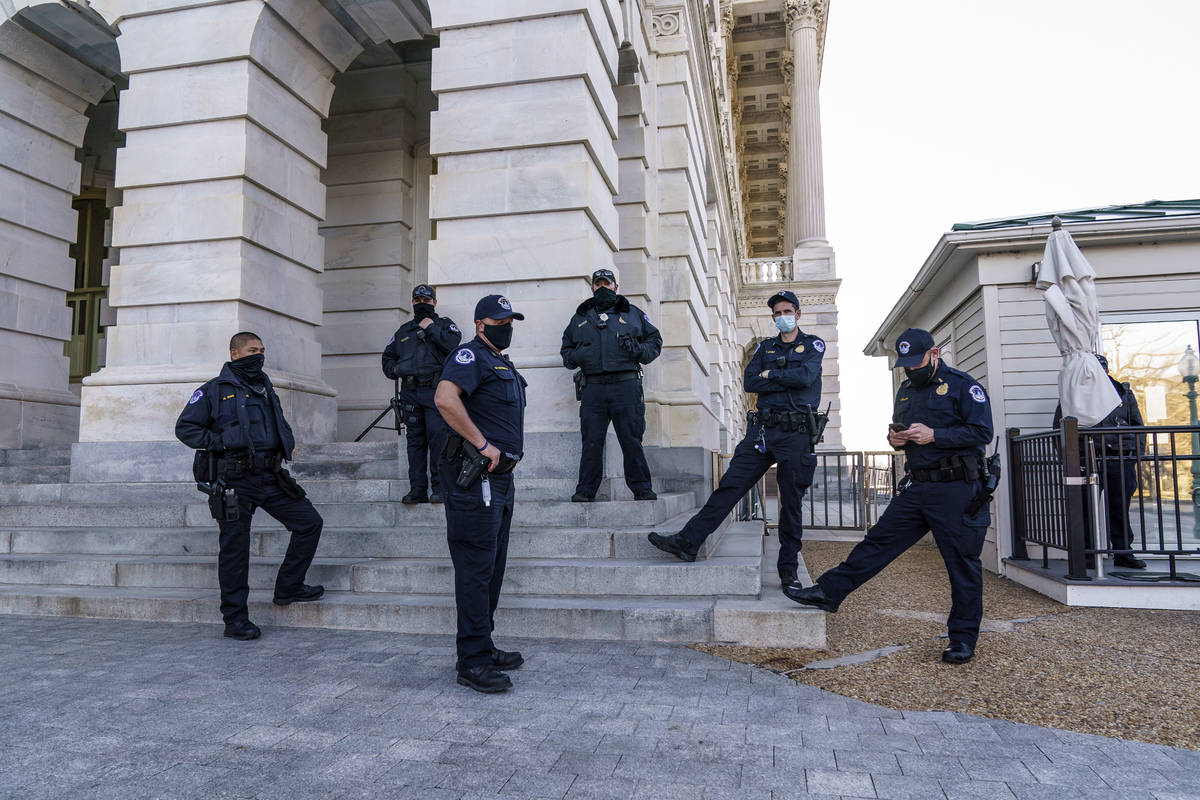 Heightened security remains around the U.S. Capitol since the Jan. 6 attacks by a mob of suppor ...
