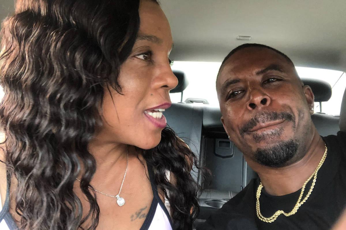 Rashied Tarkington is pictured with his ex-girlfriend Latoshia Jackson, 49. Tarkington is now f ...