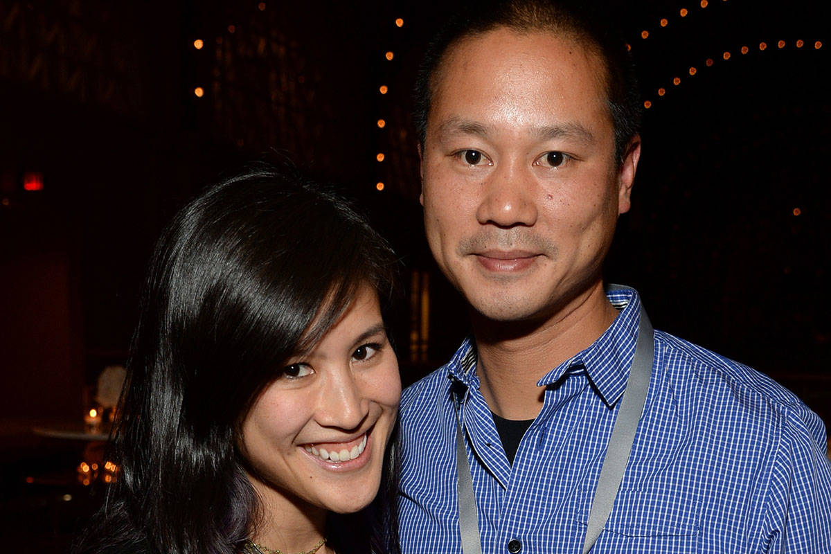 Mimi Pham and Zappos.com CEO Tony Hsieh (Photo by Michael Kovac/Getty Images for Vanity Fair)