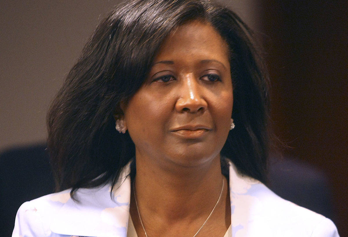 Former Clark County commissioner Lynette Boggs, seen in court in 2007 (Las Vegas Review-Journal)
