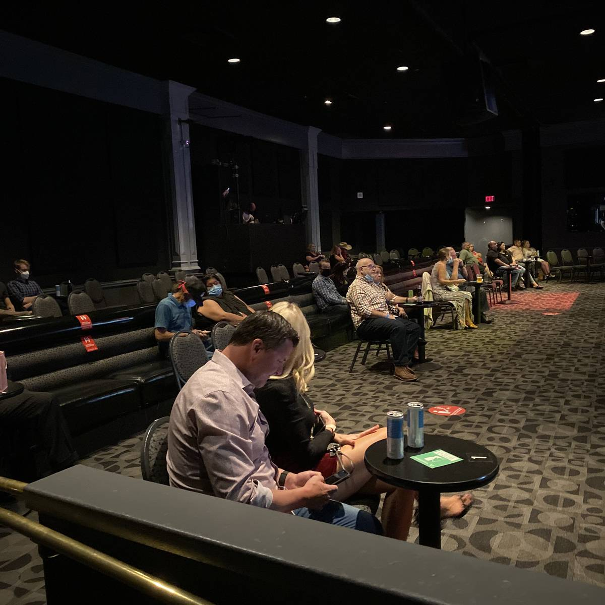 """An early look at the crowd at """"X Country"""" at Harrah's Cabaret on Thursday, Oct. 22, 2020. (John ..."""