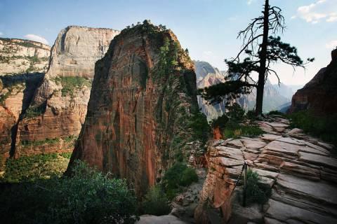 Angels Landing is seen in Zion National Park in Utah (Las Vegas Review-Journal)