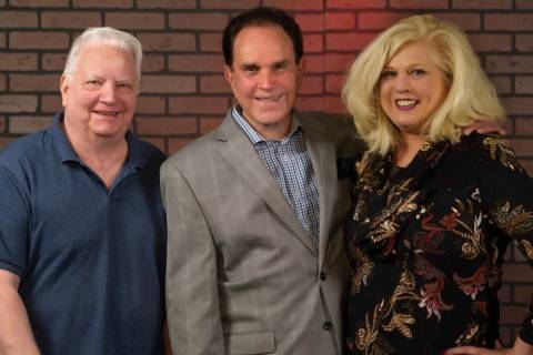 Legendary impressionist Rich Little is shown with producers Rich Faverty and Peggy Wiggins in t ...