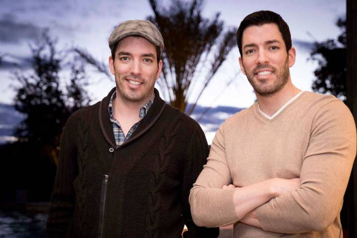 """Jonathan and Drew Scott, who star in HGTV's """"Property Brothers,"""" relax in their Las Vegas home. ..."""