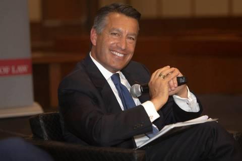 Former Nevada Gov. Brian Sandoval on Thursday, Sept. 12, 2019, in Las Vegas. (Michael Blackshir ...