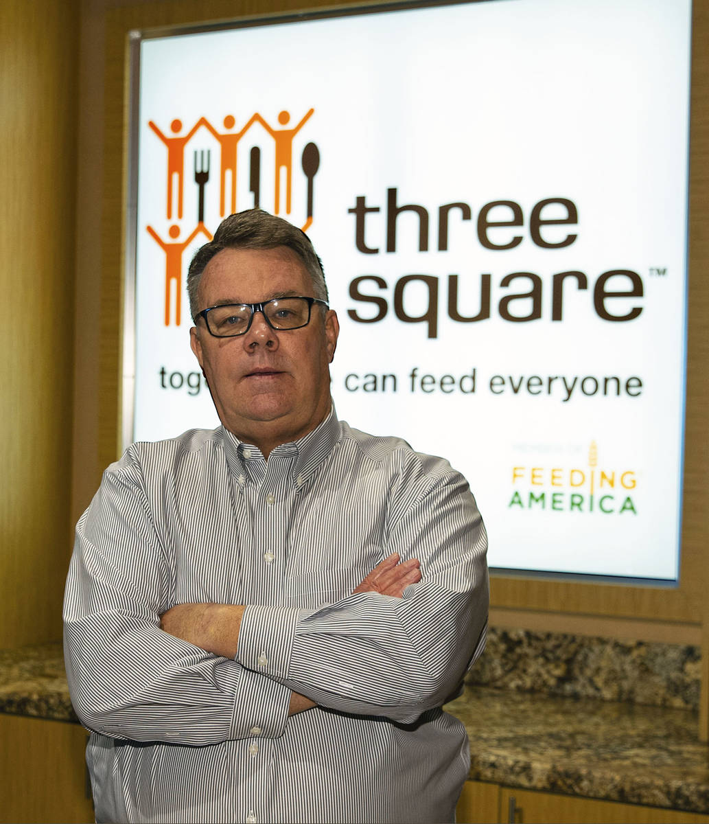 Three Square Chief Operating Officer, Larry Scott, poses for a photo at Three Square North Camp ...