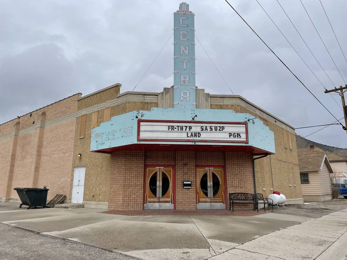The Ely Central Theatre is shown on Wednesday, March 10, 2021. (Anne Kellogg)