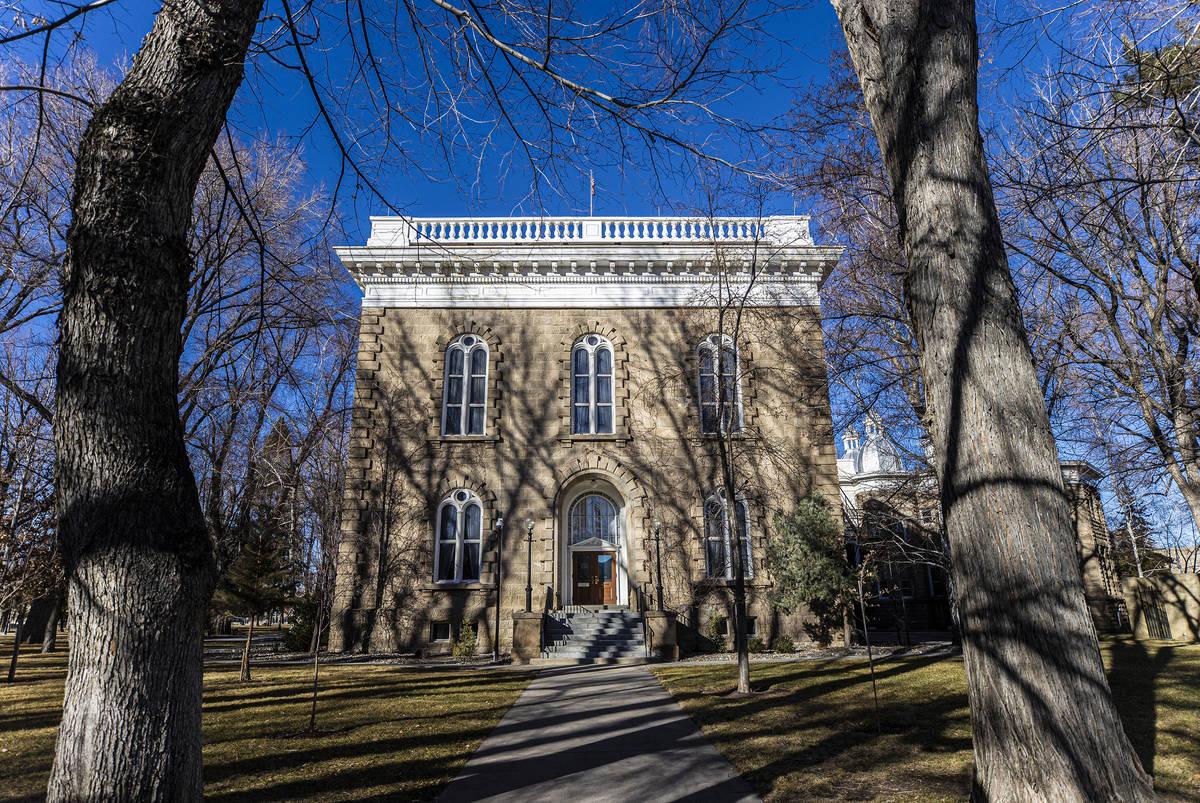 The Nevada State Capitol Building on Sunday, Jan. 17, 2021, in Carson City, Nev. (Benjamin Hage ...