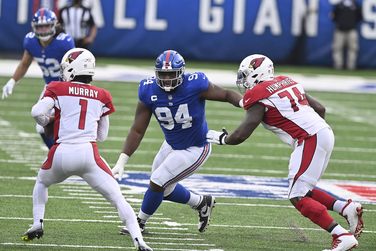 New York Giants defensive tackle Dalvin Tomlinson (94) during a NFL football game against the A ...