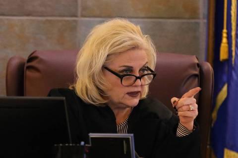 District Judge Michelle Leavitt (Bizuayehu Tesfaye/Las Vegas Review-Journal)