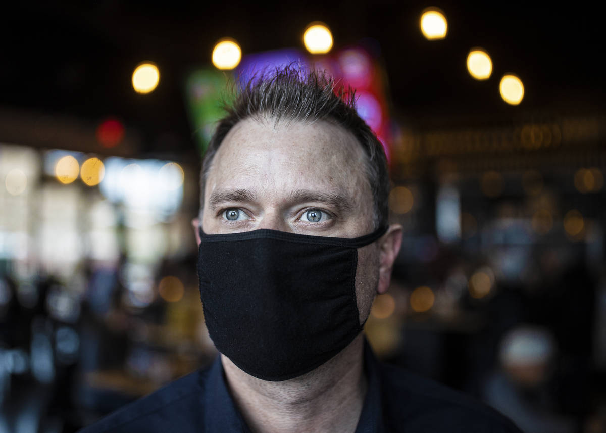 Andy Hooper, owner of El Luchador Mexican Kitchen + Cantina, on Friday, March 12, 2021, at El L ...