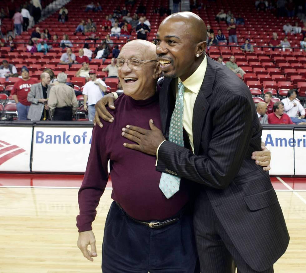 RJ FILE*** JOHN GURZINSKI/REVIEW JOURNAL Former UNLV head basketball coach Jerry Tarkanian, l ...