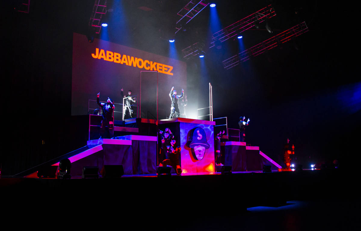 """The Jabbawockeez perform in their production, """"Timeless,"""" at the MGM Grand Garden Are ..."""