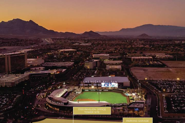 Summerlin An aerial view of Las Vegas Ballpark shows where new projects will be built, includi ...