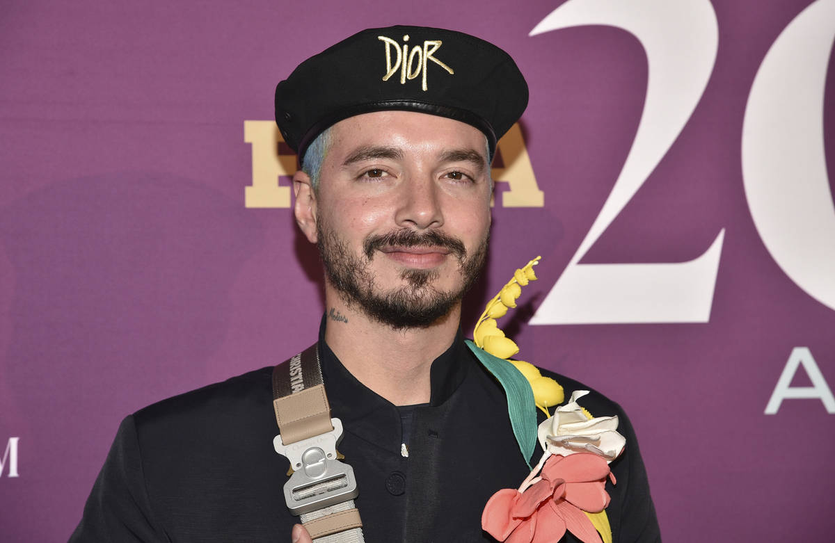 This Dec. 3, 2019 file photo shows singer J Balvin at the 2019 Footwear News Achievement Awards ...
