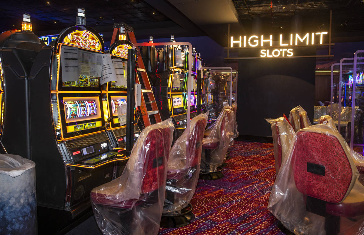 Slots and furniture are still to be readied at the reimagined and re-conceptualized casino reso ...