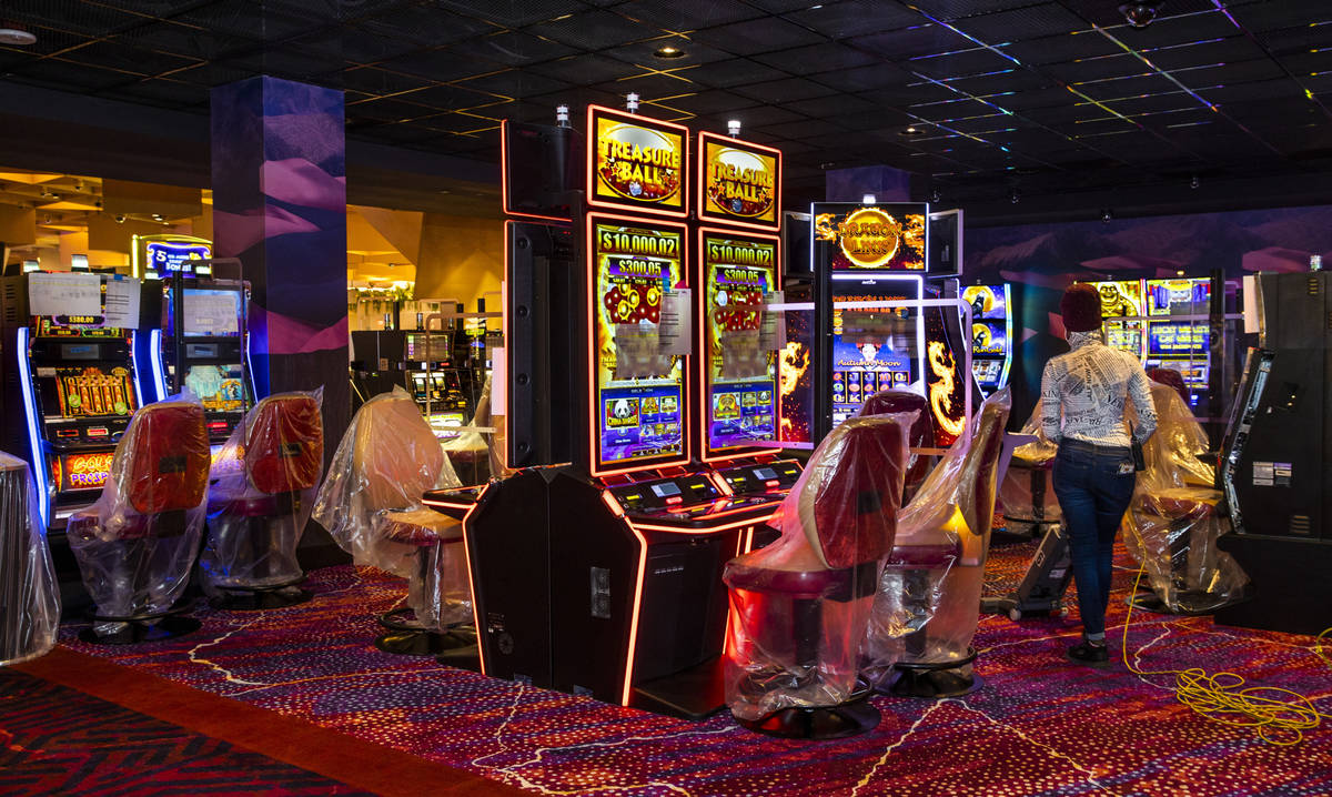 Slots and furniture are still to be readied within the reimagined and re-conceptualized casino ...