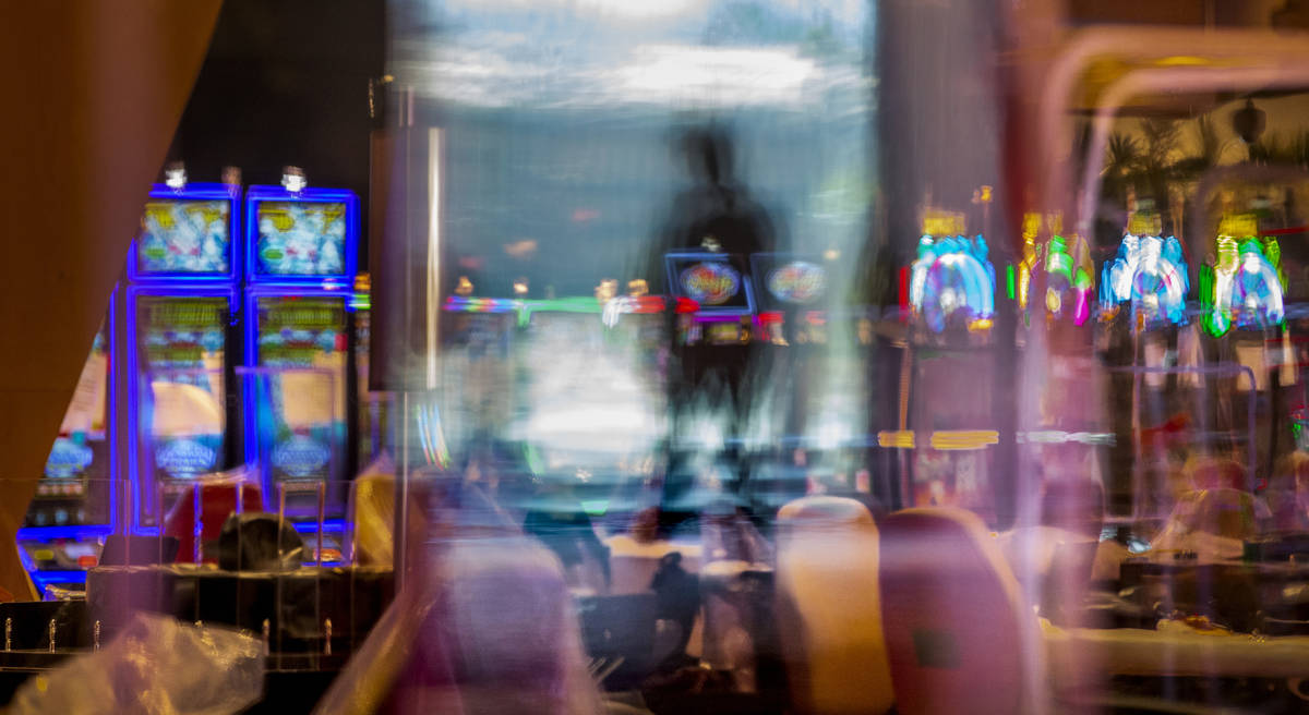 Much plexiglass will keep visitors separated between slots and table games within the reimagine ...