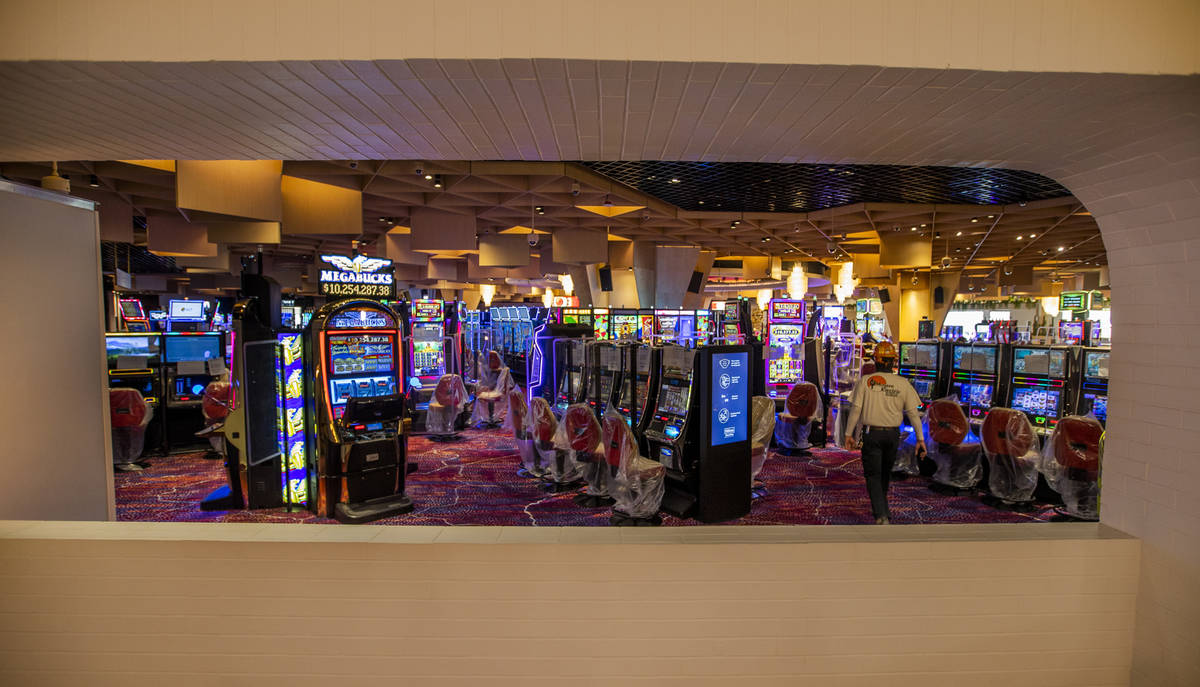 View of the gaming floor from The Kitchen at Commons Club within the reimagined and re-conceptu ...
