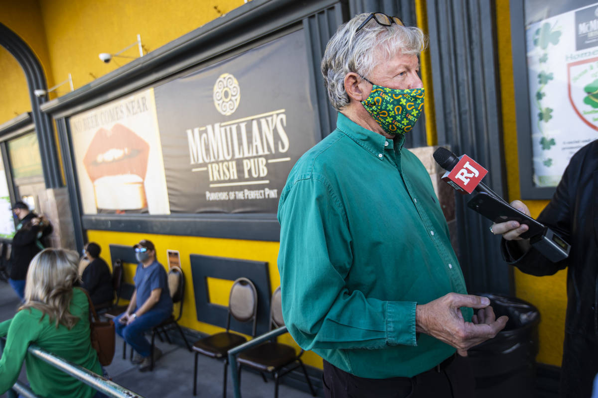 Brian McMullan, owner of McMullan's Irish Pub, talks about his experience as people gather to c ...