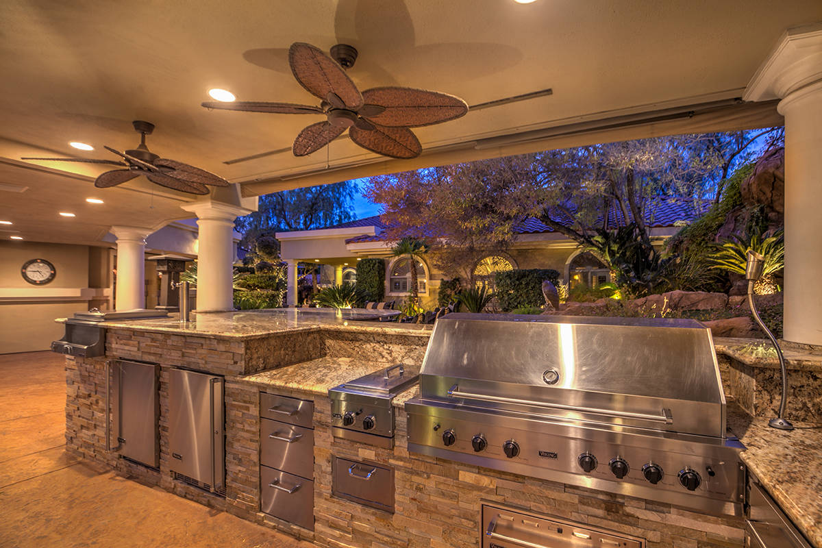 Outdoor kitchen. (Mark Wiley Group)