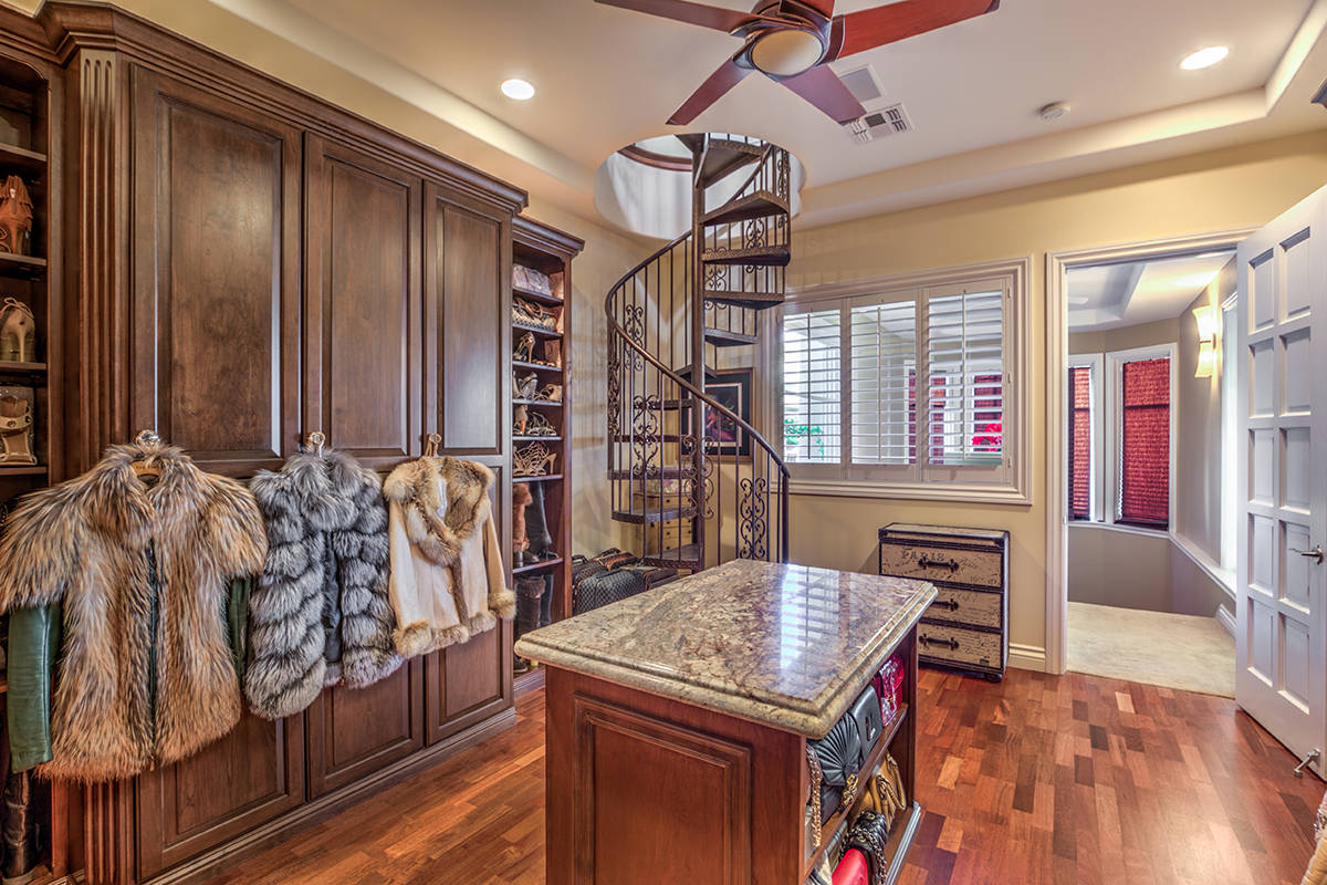 The two-story closet. (Mark Wiley Group)