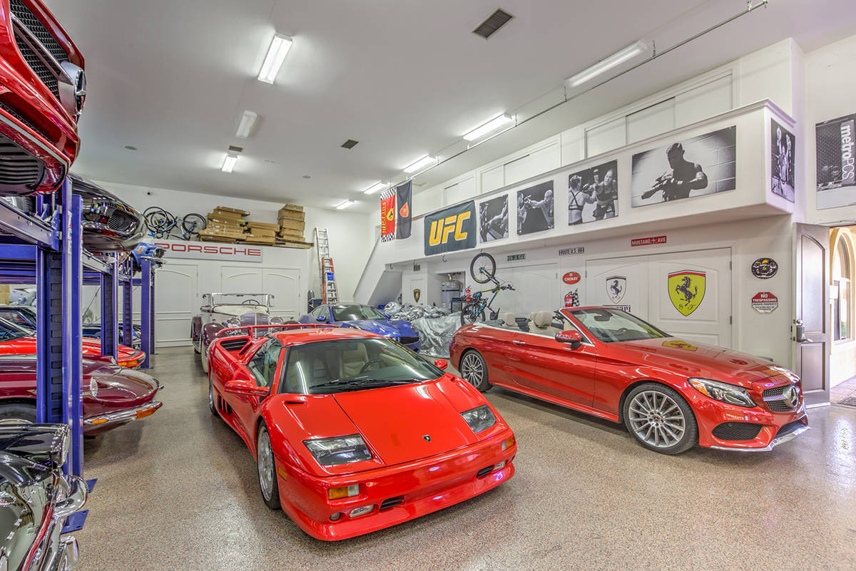 The home has garage space for 20 cars. (Mark Wiley Group)