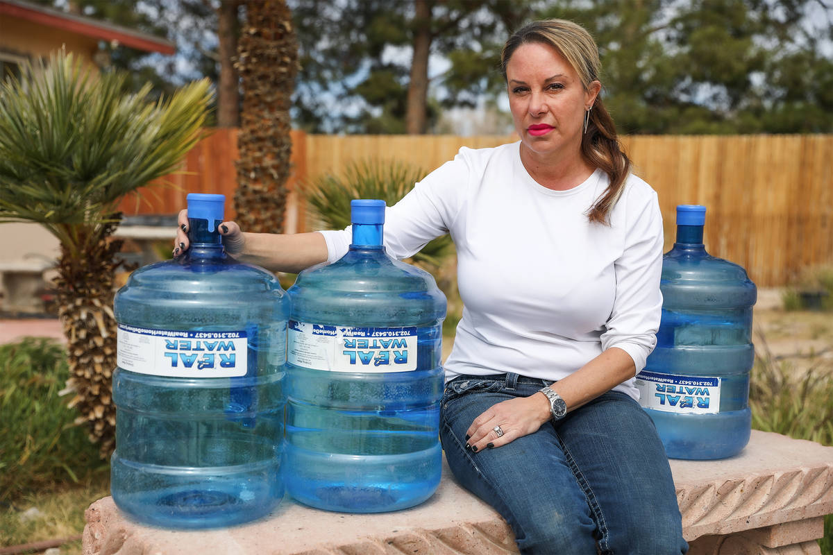 Tina Hartshorn, at her home in Las Vegas, Thursday, March 18, 2021. Hartshorn suffered a long l ...