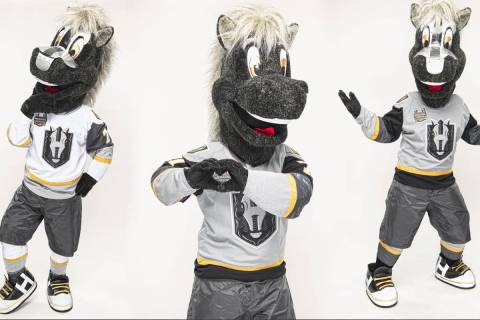The Henderson Silver Knights' new mascot, Lucky. (@HSKLucky7)