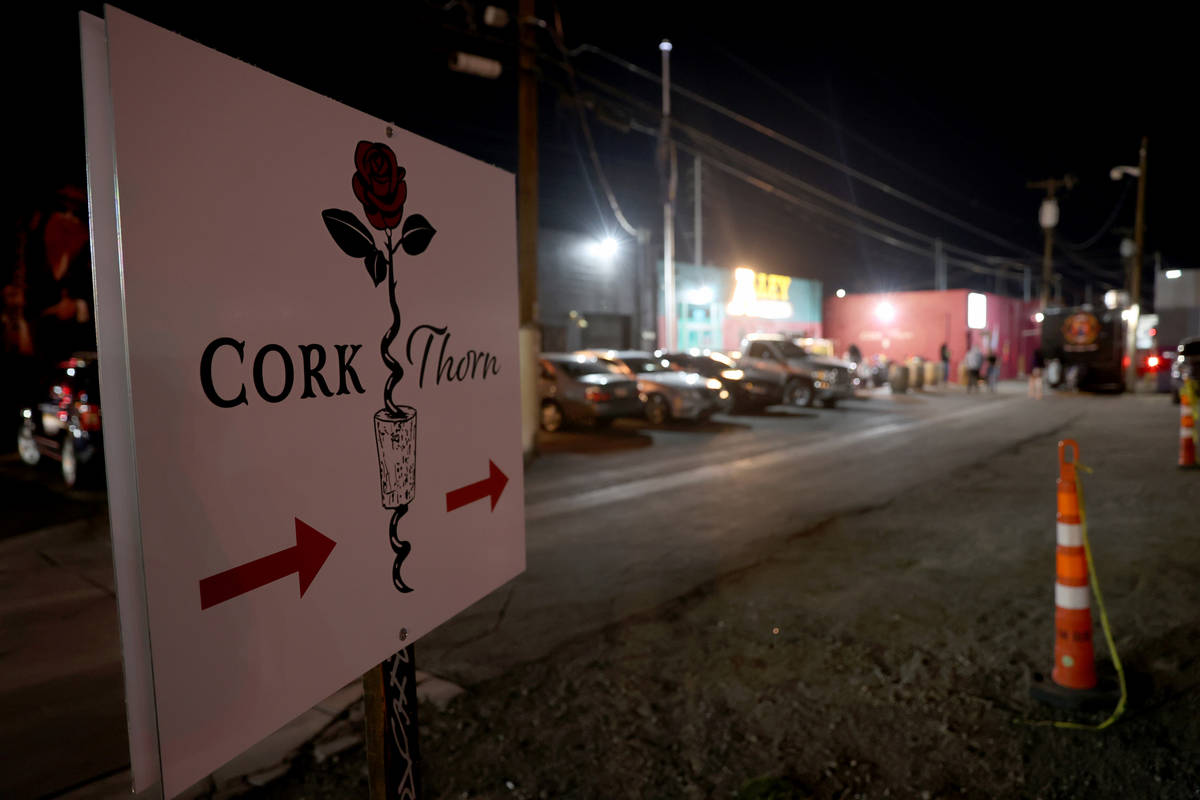 Reopening night at Cork and Thorn in downtown Las Vegas Sunday, March 21, 2021, after a renovat ...