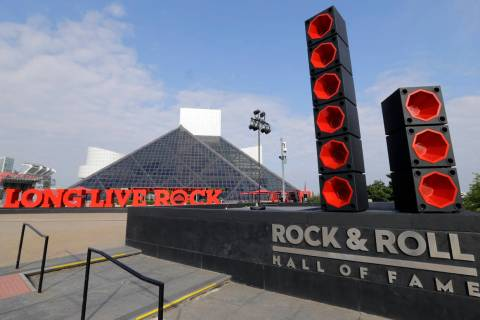 FILE - This Wednesday, Aug. 30, 2017, file photo shows the exterior of the Rock and Roll Hall o ...