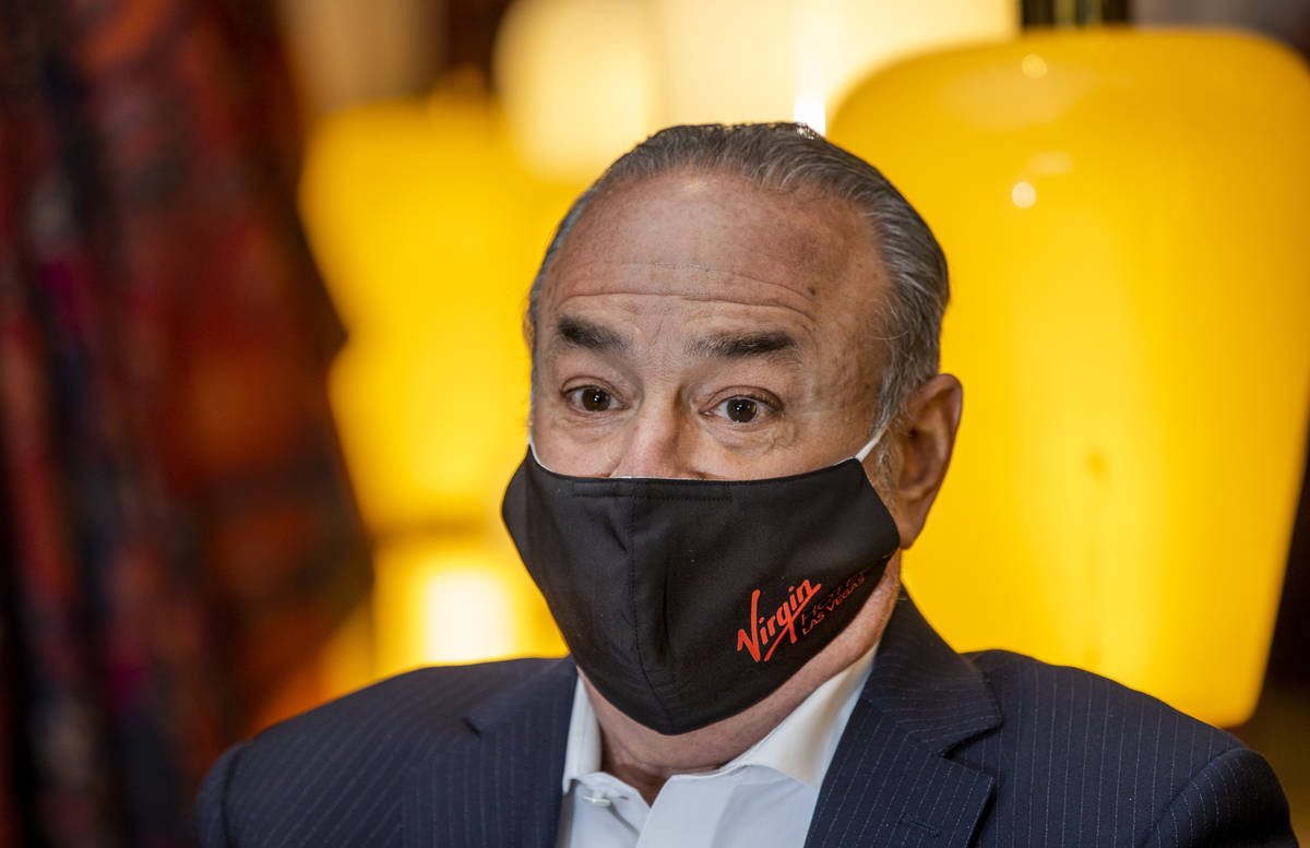 Richard ÒBozÓ Bosworth, President and CEO of Virgin Hotels Las Vegas speaks about the ...