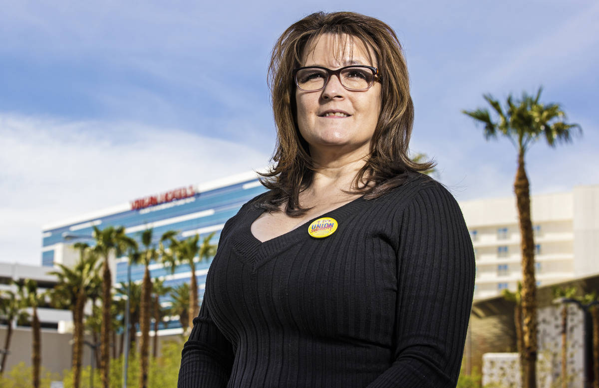 Cocktail server Marci Soulia has worked at the Hard Rock Hotel since its opening, and is set t ...