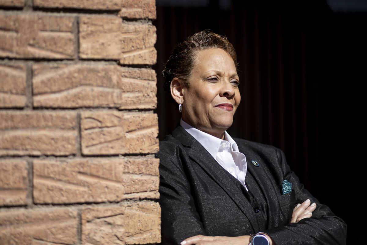 Nevada Sen. Pat Spearman, D-North Las Vegas, poses for a portrait at the Las Vegas Review-Journ ...