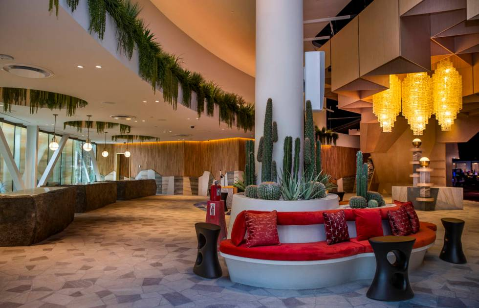 Desert flora welcomes guests at the new Virgin Hotels Las Vegas. (L.E. Baskow/Las Vegas Review ...