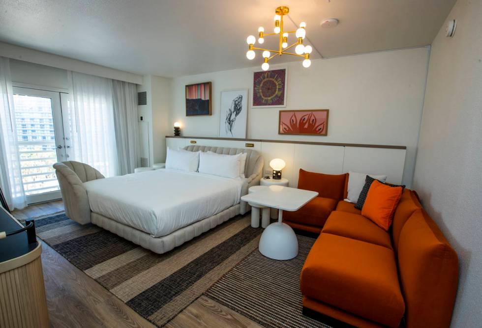 Privacy is prized in the guest rooms of the new Virgin Hotels Las Vegas. (L.E. Baskow/Las Vega ...