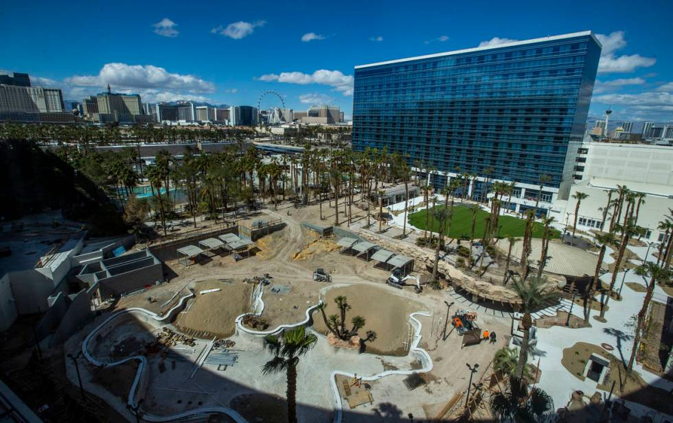 While pools are still under construction at Virgin Hotels Las Vegas, the old rehab space lies b ...