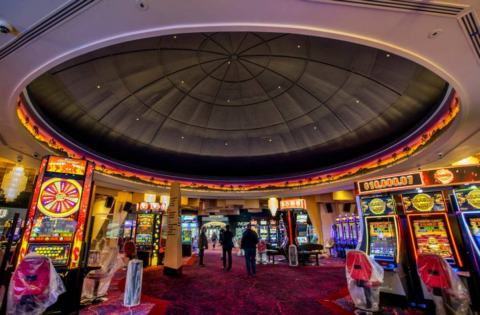 A dome on the Virgin Hotels Las Vegas casino floor is the last remnant of Hard Rock's old cente ...