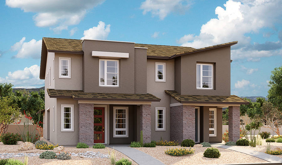 Richmond American Homes features several floor plans at its Amberock neighborhood in Lake Las V ...