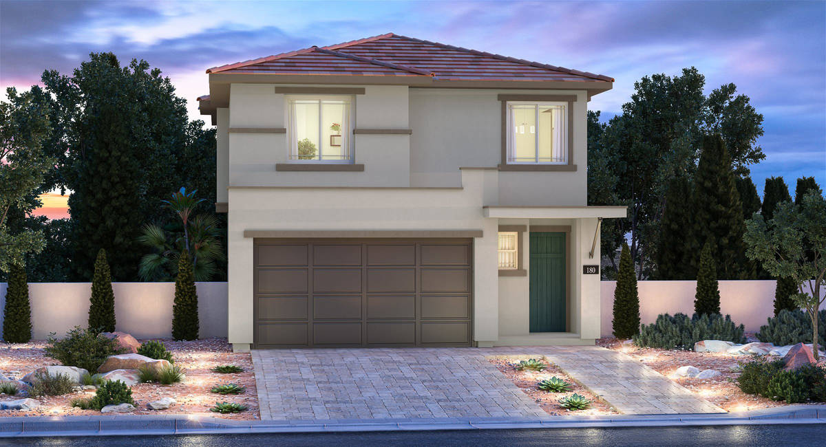 An artist's rendering shows what one of Lennar's new floor plans would look like. The builder o ...