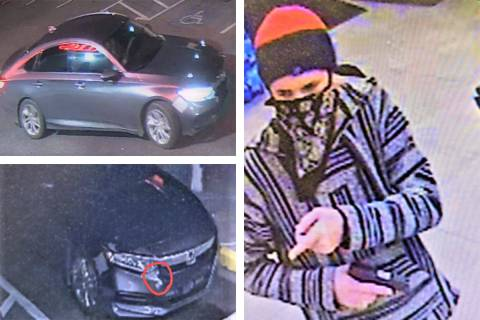 A Honda Accord with some damage might be used by a man connected to several robberies across th ...