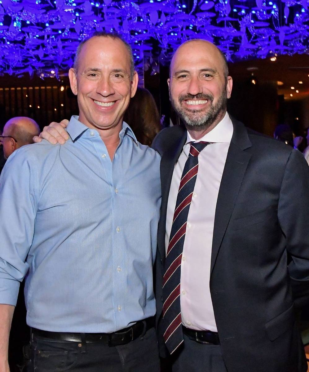 Restauranteurs Michael and David Morton are shown at the opening of One Steakhouse at Virgin La ...