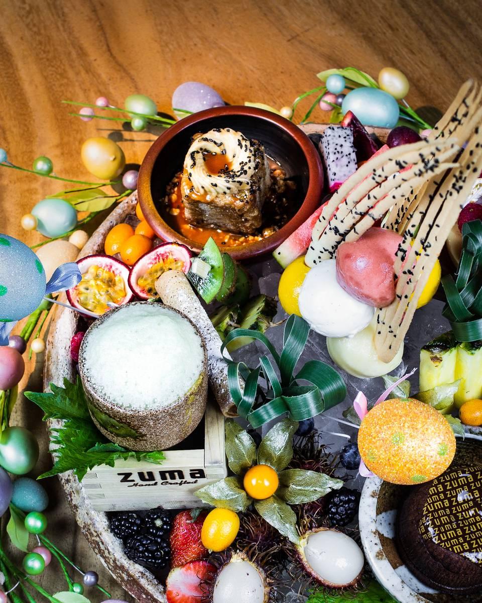 Easter desserts at Zuma. (Zuma)