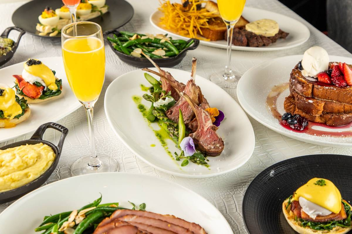 An array of Easter brunch dishes at STK Steakhouse. (STK Steakhouse)
