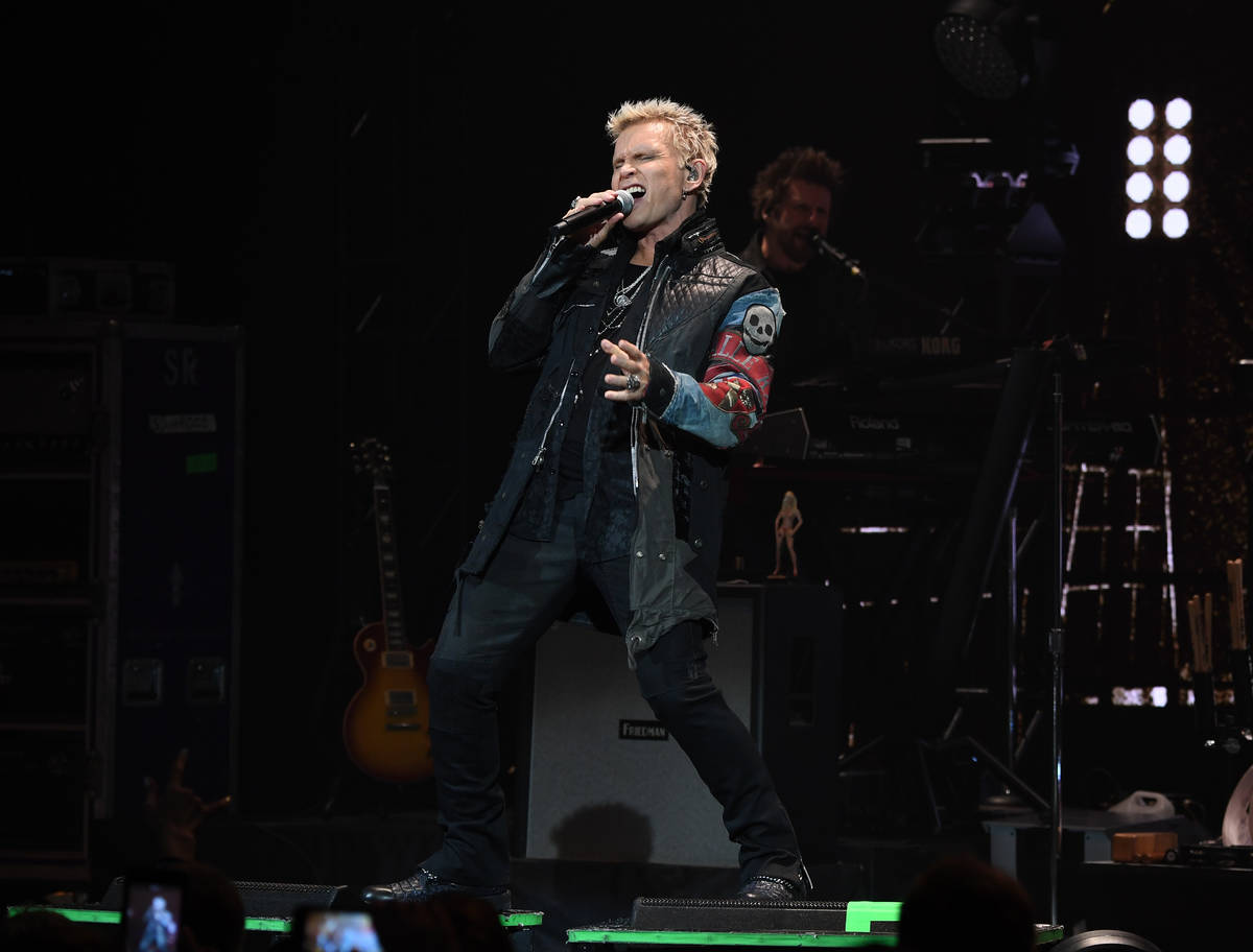 Billy Idol at the Palms on Jan. 18, 2019. (Denise Truscello)