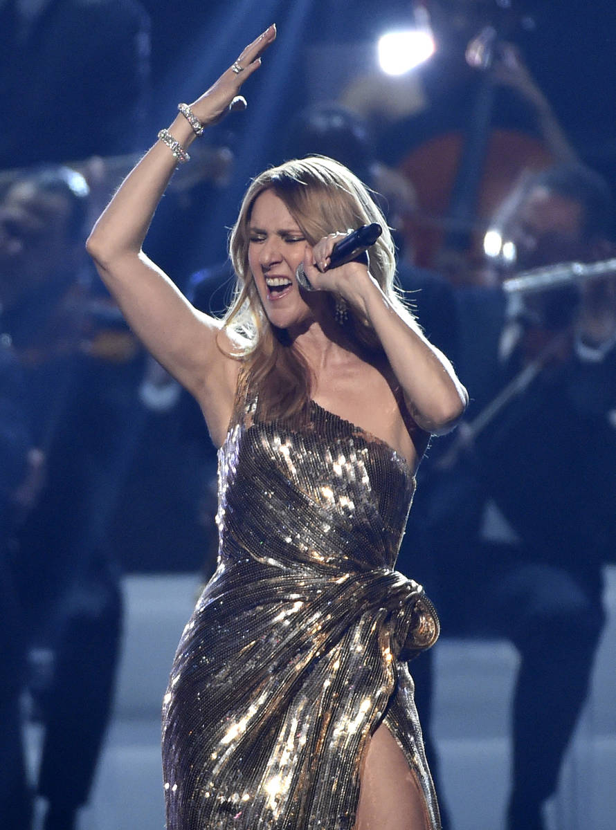 Celine Dion performs The Show Must Go On at the Billboard Music Awards at the T-Mobile Arena on ...