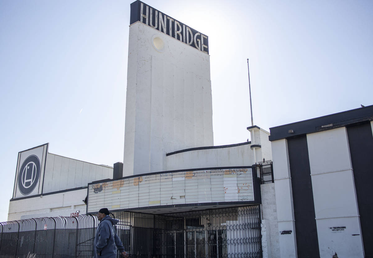 The site of the former Huntridge theater at 1208 E. Charleston Boulevard in Las Vegas on Thursd ...